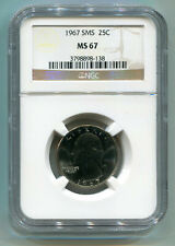 1967 SMS WASHINGTON QUARTER NGC MS 67 NICE ORIGINAL COIN PREMIUM QUALITY