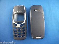 Original Nokia FRONT BACK Oberschale Cover 3310 3330 Gehäuse Akkudeckel BLAU Neu