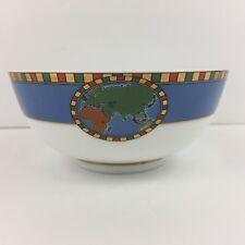 "RARE Tiffany & Co Porcelain Bowl World Globe Compass design 5"" x 2"" EUC Vintage"