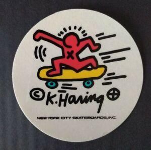 Keith Haring New York City Skateboard Sticker genuine Vintage 1980's Street art