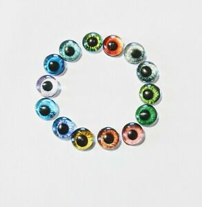 6mm glass cabachon eyes great for taxidermy, needle felting, toy making