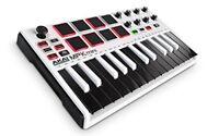 AKAI Professional MPK Mini MKII 25-Key Portable USB MIDI Keyboard with 16 Backli