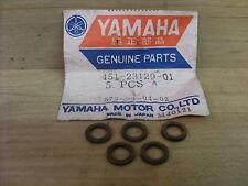 YAMAHA TY80 A TY80 B NEW GENUINE FORK DRAIN BOLT 5 COPPER GASKETS 451-23129-01