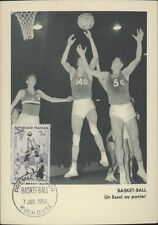 SPORTS BASKET BALL UN ESAI AU PANIER 1956 ED. PARIOSN & REGNIER PHOTO