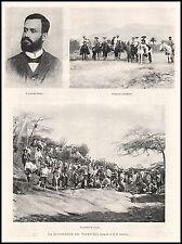 STAMPA 1900 GENERALE CASTRO RIVOLUZIONE VENEZUELA INSURREZIONE COLUMBIA