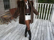 Unique Mint Saga Fox & Mink Fur Coat jacket bolero S-M