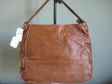 """NWT! FURLA - Embossed-Leather Shoulder Bag - Camel (5""""x11""""x14"""")"""