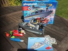 Playmobil 4429 Underwater  Motorised Police Boat Diver Set MIB