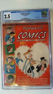 POPULAR COMICS # 2 1936, DELL EARLY RARE PRE SUPER HERO CGC 2.5