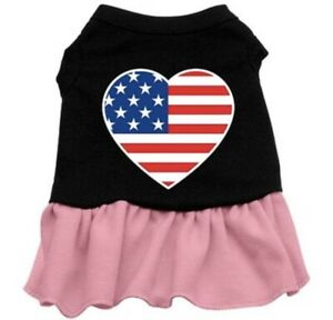 Dog Dresses - AMERICAN FLAG Screenprint - Poly/Cotton *Many Sizes and Colors*