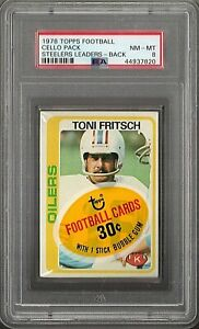 1978 TOPPS FOOTBALL CELLO PACK PSA 8 NM-MT STEELERS LEADERS - BACK