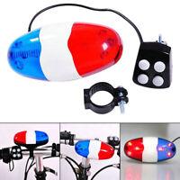 Bicycle 6 Flashing LED 4 Sounds Police Siren Trumpet Horn Bell Bike Rear Lig Gn
