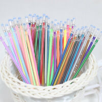 48pcs Gel Pens Refills Rollerball Pastel Neon Glitter Pen Kids Drawing Colors