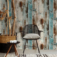19.7Ft Self Adhesive Vintage Wood Wallpaper Peel-Stick Wall Stickers Home Decor