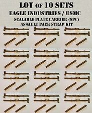 EAGLE USMC ITW STRAP BUCKLE REPAIR KIT TACTICAL PACK COYOTE TAN MOLLE 10 SETS