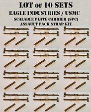 EAGLE USMC ILBE STRAP BUCKLE ADAPTER CUMMERBUND STAY COYOTE TAN MOLLE LOT of 10