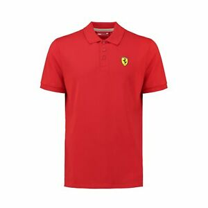Ferrari Herren Polo-Shirt Classic Baumwolle Logo Shell Shirts Polo