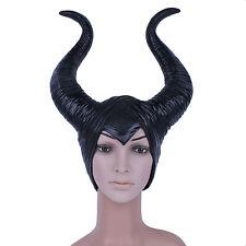 USA Stock Maleficent Horn Hat Women Halloween Cosplay Prop Helmet Accessory Gift