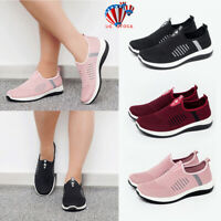 US Womens Ladies Sneakers Trainers Sock Runners Comfy Speed Knit Gym Shoes Size