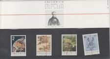 GB 1984 Meridiano de Greenwich presentación Pack 154 SG 1254 1257 conjunto de sello de menta