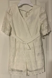 """NEW TRIXX GIRLS WHITE ONE PIECE Lined JUMPER SHORT Size 7 """"Easter Perfect"""""""