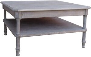 TRADE WINDS ISLAND COFFEE TABLE COCKTAIL SQUARE RIVERWASH MAHOGANY FRAME M