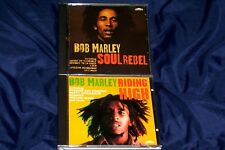 BOB MARLEY CD X 2 SOUL REBEL AND RIDING HIGH BOTH IN GOOD CONDITION