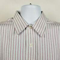 Brooks Brothers Non Iron Traditional Fit Mens Red Blue Striped Dress Shirt 16-34