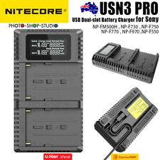 AU Mf007 NITECORE Usn3 Pro Double USB Charger for Sony Camera Battery