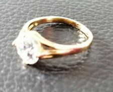NEU Damen ring 14kt  585 gelbgold gebraucht Solitaire solitär