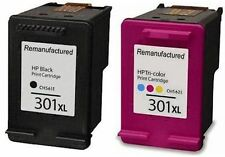 Refilled HP 301XL Black And Colour Ink Cartridges For Envy 5530 e All In One