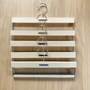 Original Giorgio Armani Wooden Luxury Pant Hanger Set of 5