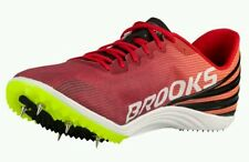*NEW* SZ 10.5D Men's Brooks Mach 17 with Spikes & Tool 1102011D618 RED/EXUB/BLK