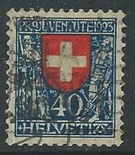 1923 SVIZZERA USATO PRO JUVENTUTE 40 CENT - G037