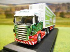 OXFORD EDDIE STOBART SCANIA & STEADY EDDIE FRIDGE TRAILER 1/76 76SHL16FR