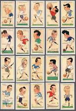 1927 John Player & Sons Football Caricatures By Mac' Tobacco Cards Complete Set