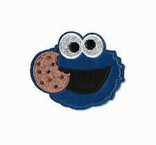 Cookie Monster - Cookie - Sesame Street- Educational - Embroidered Iron On Patch