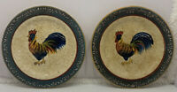 """Rooster Cafe By Noble Excellence Salad Plate 8.5"""" Lot Of 2"""