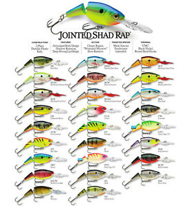 Rapala Jointed Shad Rap // JSR04 // 4cm 5g Fishing Lures (Choice of Colors)