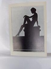 Boudoir Salon 1940s 50s  Decor Vintage print from photographers studio  Nude m