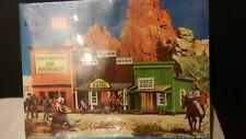 Kibri HO Vintage Old Time Wild West Town Kit, Bank, Newspaper, Watch Maker, NIB