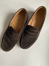 JM Weston 180 Brown Le Moc Loafers Dress Shoes Mens US Size 7D (US 8)