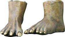 Brown Monster Feet Latex Overshoes halloween ghoul Gremlin Troll