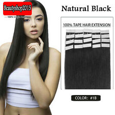 "Full Head Tape in 100% Human Hair Extensions 16""18""20""22""24"" 30g 40g 50g 60g 70g"
