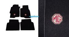 MG ZS MGZS ROVER 45 set BLACK LHD car mats badge logo NEW
