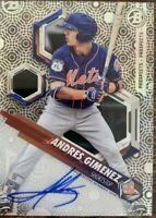 2018 Bowman Topps High Tek ANDRES GIMENEZ Autograph Rookie #PHT-AG New York Mets