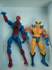 """New listing Set of 2 5"""" 2006 Toy Biz Spiderman and Wolverine Articulate Marvel Movie Figures"""