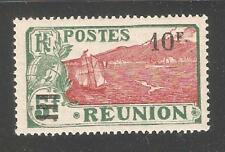 Reunion 1927,Surcharged 10fr on 5fr,Sc 120,VF MLH*OG