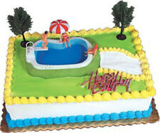 1 Swimming Pool Party Cake Topper  Summer Baking Designer Kit Backyard Vacation