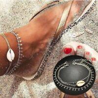 New Fashion Ankle Bracelet Women's Boho Silver Anklet Foot Jewelry Chain Beach